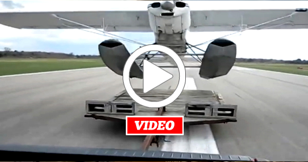 VIDEO: If Your Float Seaplane Lacks Water Then Have it Launch From A Truck Trailer On The Centerline