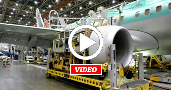 VIDEO: Fascinating Time-lapse of a Boeing 737 Going Together With an Incredible Paint Job
