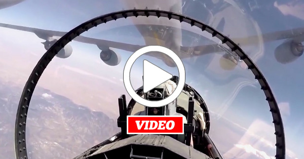 VIDEO: How NASA Pilots Refuel Their F-15D at a Gas Station in the Sky