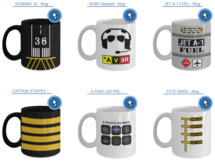 3) Let's be honest, you can never have enough aviation mugs… See something you like? Get your aviation mug, by clicking here.