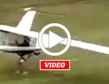 VIDEO: A Daring Takeoff with this 1/2 Horsepower Powered Aircraft